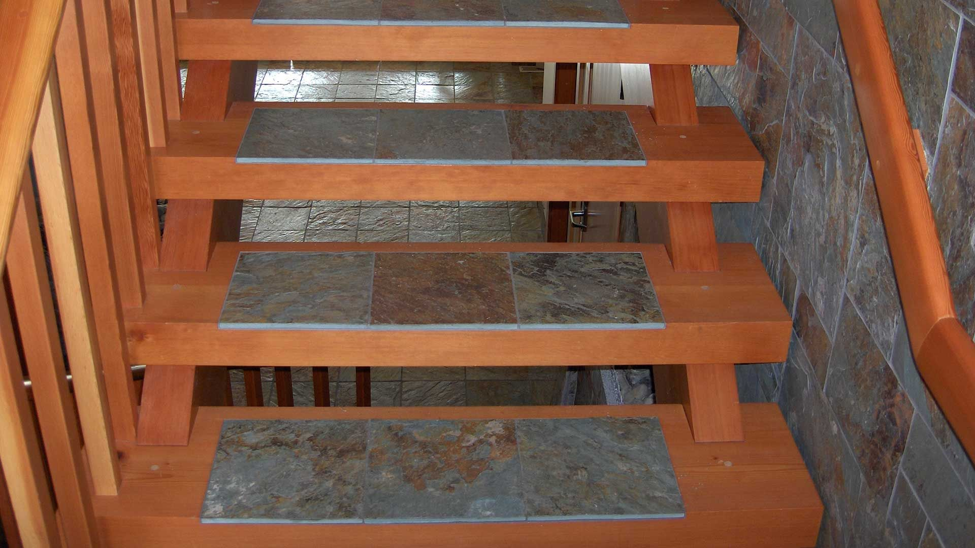 Custom Timber Stairs and Railings Island Timber Frame mom and