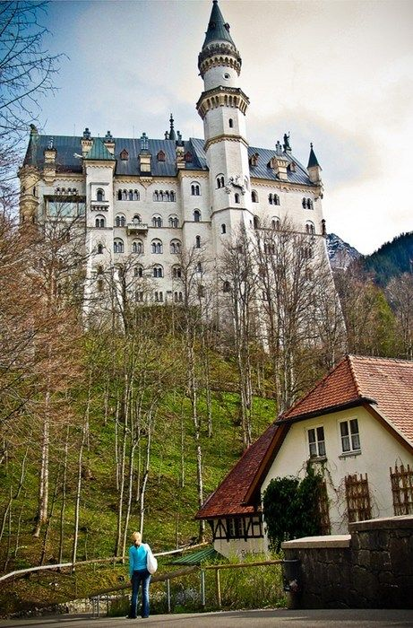 Schloss Neuschwanstein In Bayern Looking Magical Neuschwanstein Castle Germany Castles Schloss Neuschwanstein