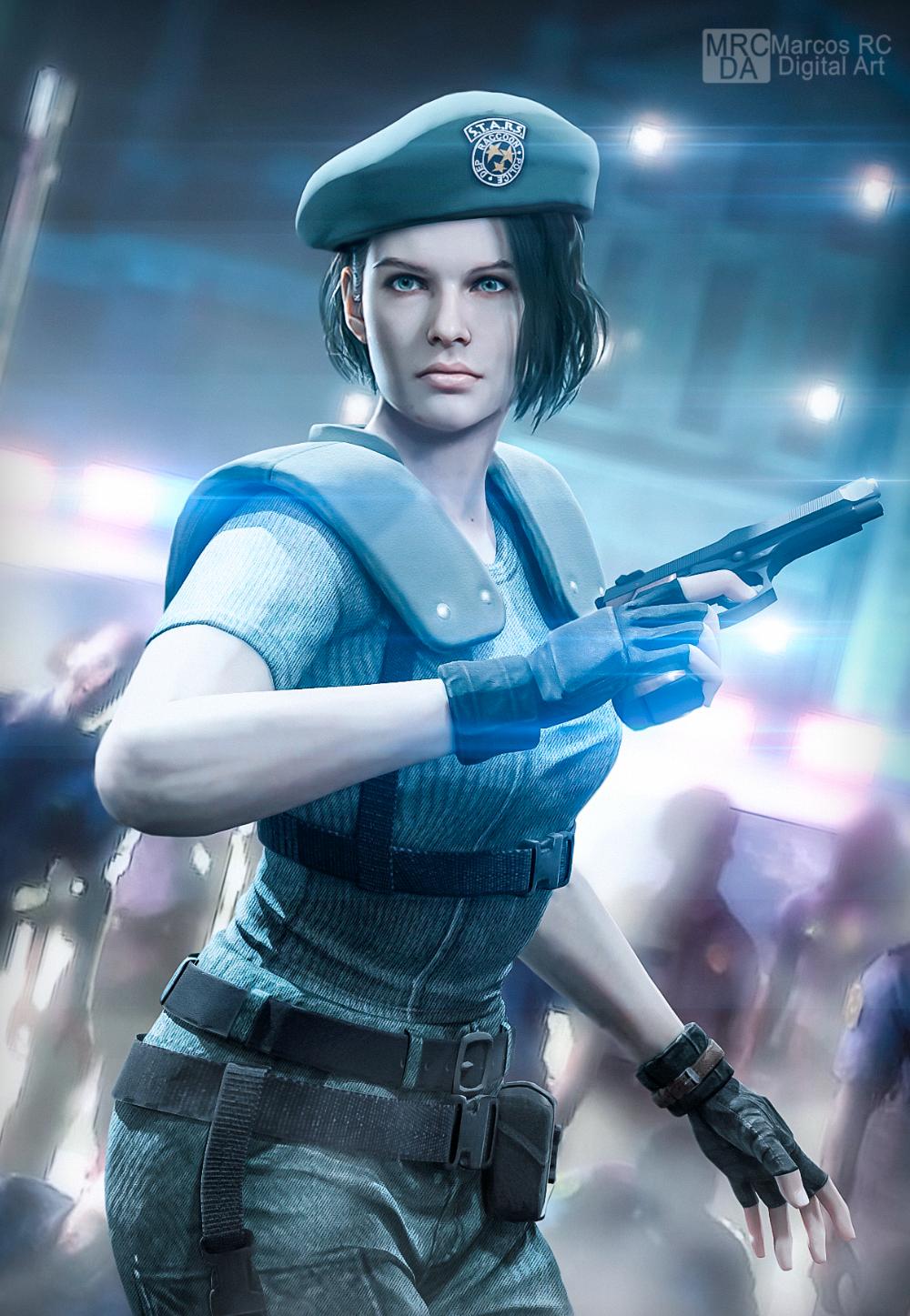 Jill Stars Re3 Costume From Re1 Remake Fanart By Mark Rc97 On Deviantart Resident Evil Girl Jill Valentine Resident Evil 3 Remake