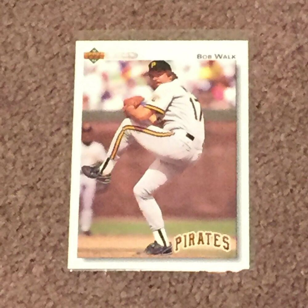 1992 Baseball Edition Upper Deck 619 Bob Walk Pittsburg Pirates