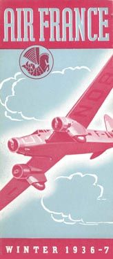 Air France Timetable UK edition, 1936