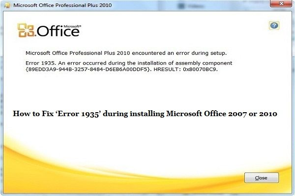 Officeerror1935 Office2007error1935 Office2010error1935 Microsoft Xp Microsoft Microsoft Office