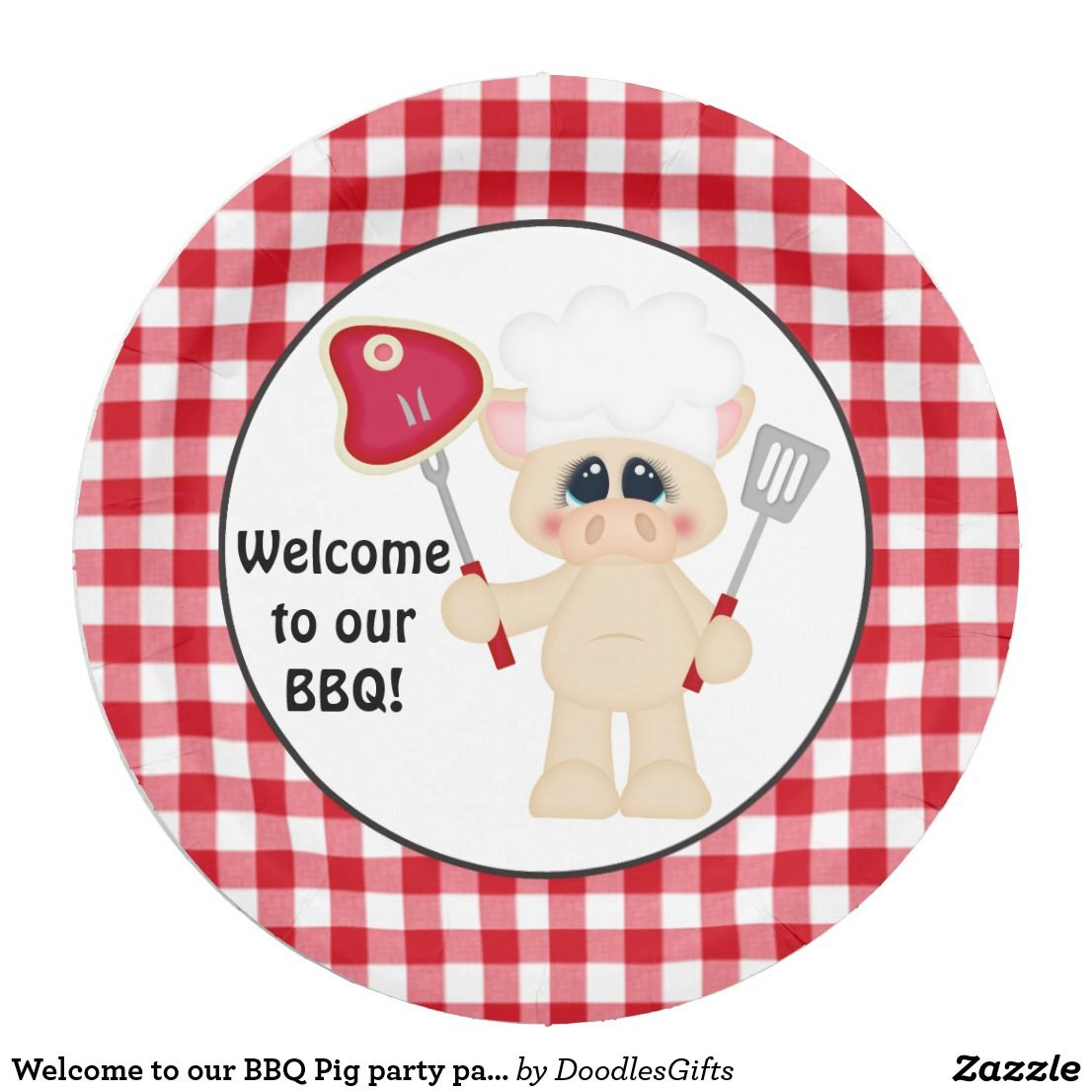 Welcome to our BBQ Pig party paper plate  sc 1 st  Pinterest & Welcome to our BBQ Pig party paper plate | Pig party