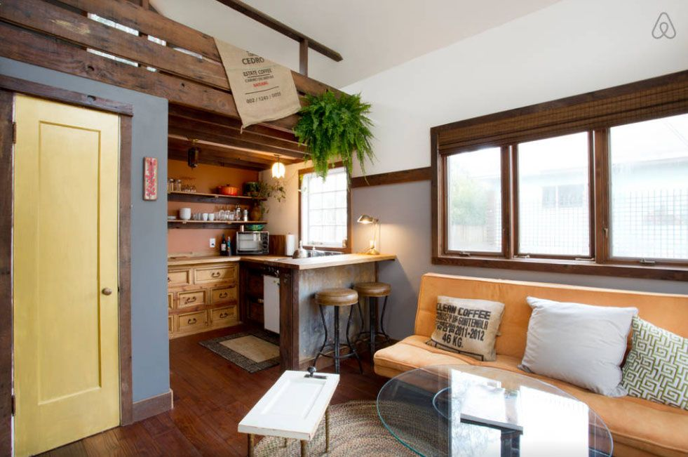 This rustic 350squarefoot tiny house in Portland makes for the