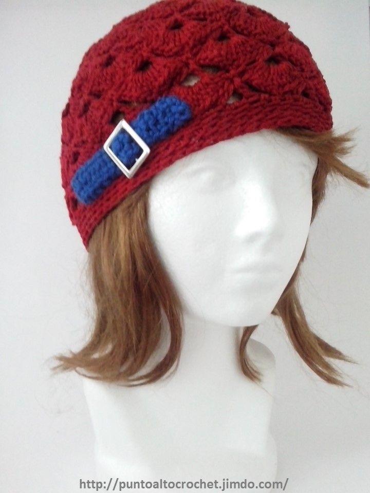 gorro crochet | gorros | Pinterest | Gorros, Estilo vintage y Pompones