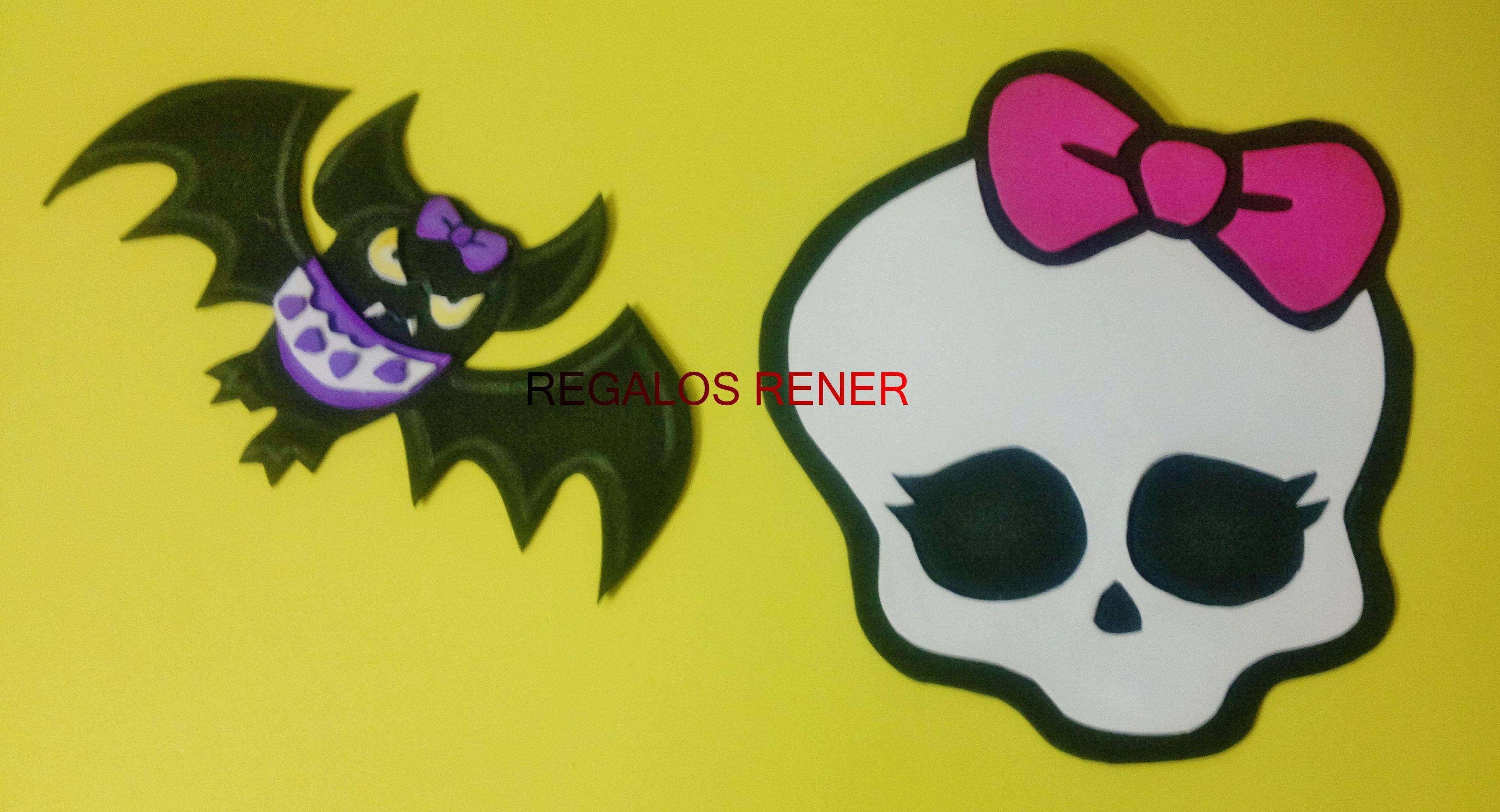 Apliques grandes de pared Monster High en goma eva | Wall Birthday ...