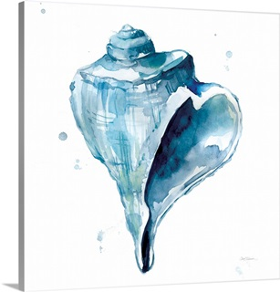 Blue Shell Calm Abstract Canvas Painting Art Art Prints