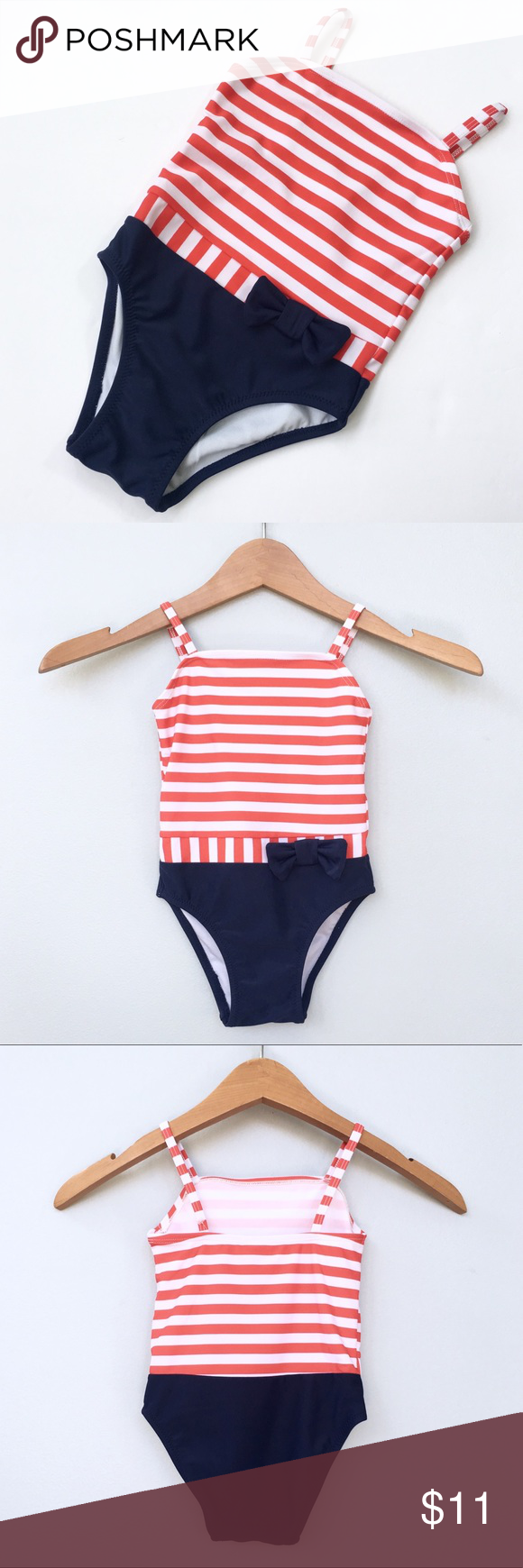 fa9d922b75f Circo Red & White Striped & Navy Bathing Suit Brand new with tags! Adorable  red