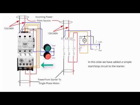 Single Phase Starter Connections Circuit Diagram Diagram Circuit