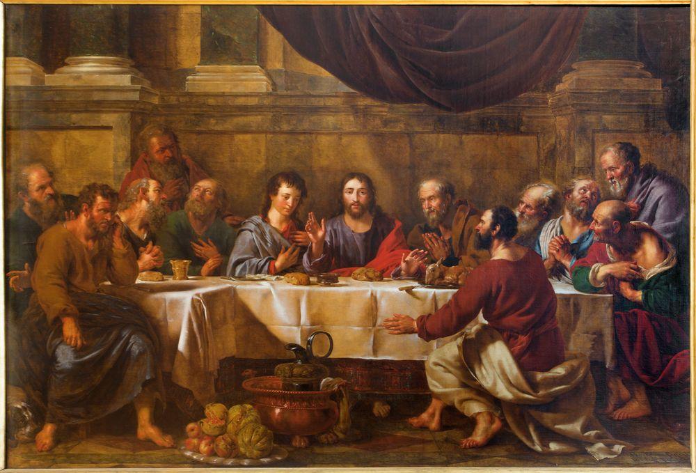 Holy Thursday The Eucharist Pintura De Jesus Pinturas E