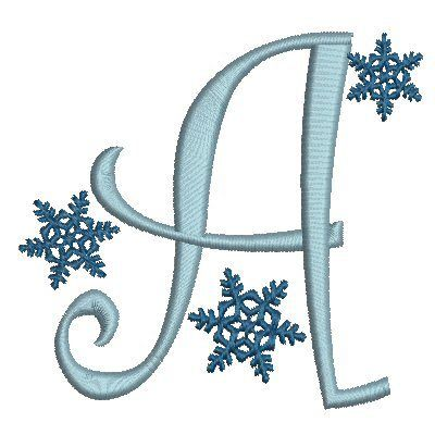 No 19 Snowflake Font Machine Embroidery Designs 3.5 inch high ...