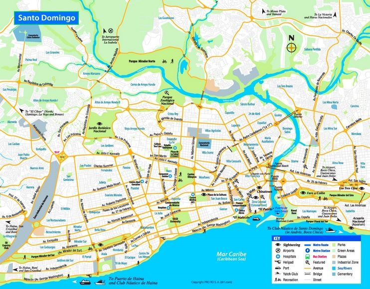 Santo Domingo tourist map Maps Pinterest Tourist map Santo