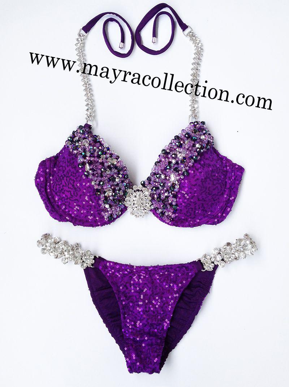 7dccc7f7 Bikini de #competición decorado con cristales #strass para que ...