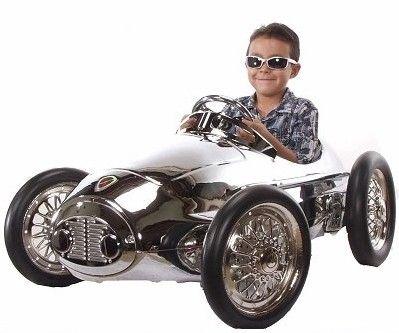 Chrome Ferrari Grand Prix Limited Edition Pedal Car Racer Pedal Cars Vintage Pedal Cars Toy Pedal Cars