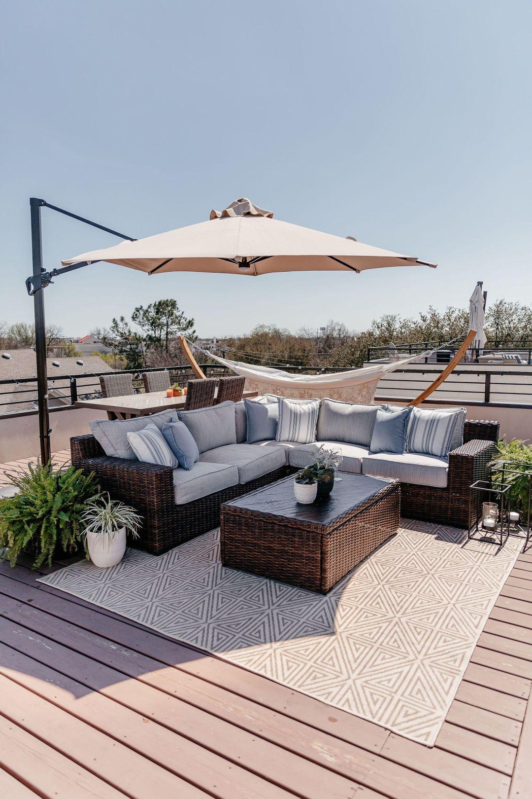 Photo of Our New Rooftop Patio! | Dani Austin | Dallas Fashion Blogger