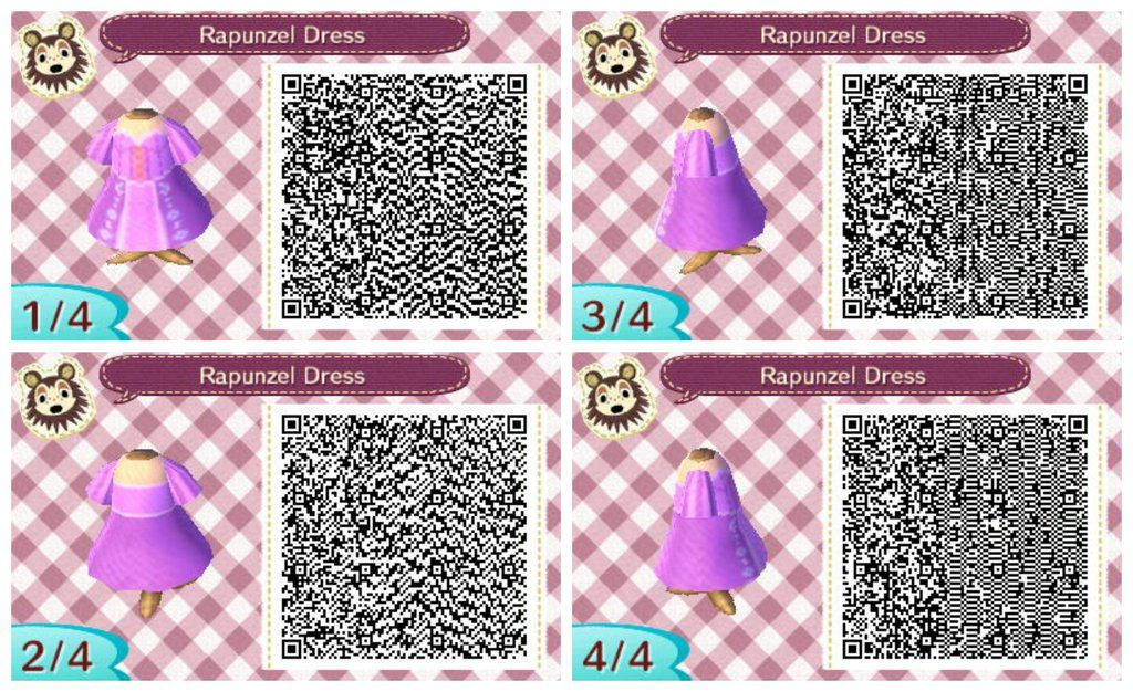Rapunzel Tangled Qr Code By Calliope Moon Animal Crossing Qr