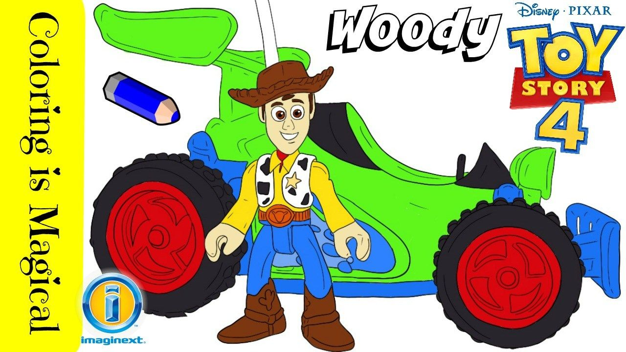 Sheriff Woody Pixar S Toy Story 4 Coloring Video Toy Story Coloring Pages Woody Toy Story Toy Story Series