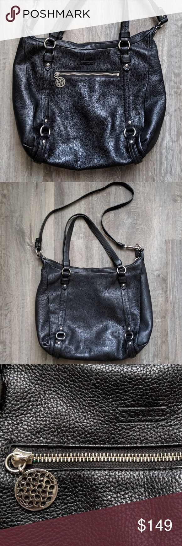 Coach Alexandra Leather Bag Coach Alexandra Black Pebble Leather Hobo Tote Messe Coach Alexandra Leather Bag Coach Alexandra Black Pebble Leather Hobo Tote Messe