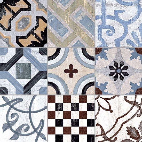 Porcelain stoneware floor tiles cementine 20 by ceramica for Idee di veranda posteriore per case in stile ranch