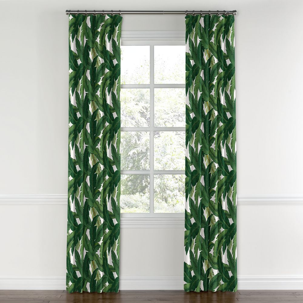Convertible Drapery Leaf Curtains Curtains With Rings Green