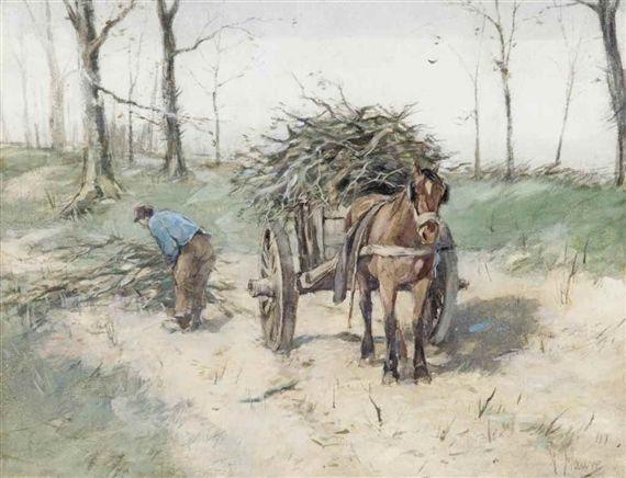 """Anton Mauve - """"The Wood Gatherer"""""""