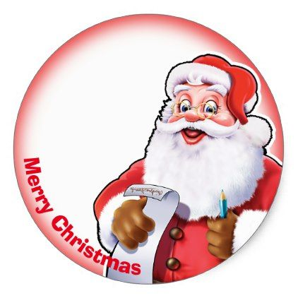 jolly santa christmas label sticker christmas labels and label
