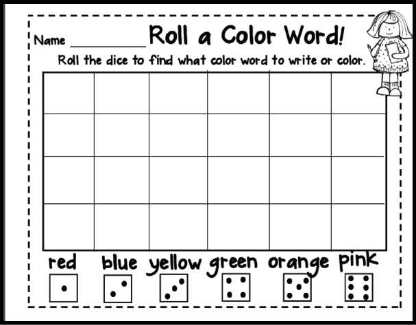 Color Word Activities On Pinterest