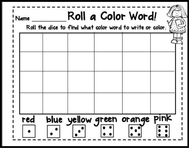 Inspired By Kindergarten Color Word Activities Word Activities Sight Words Kindergarten