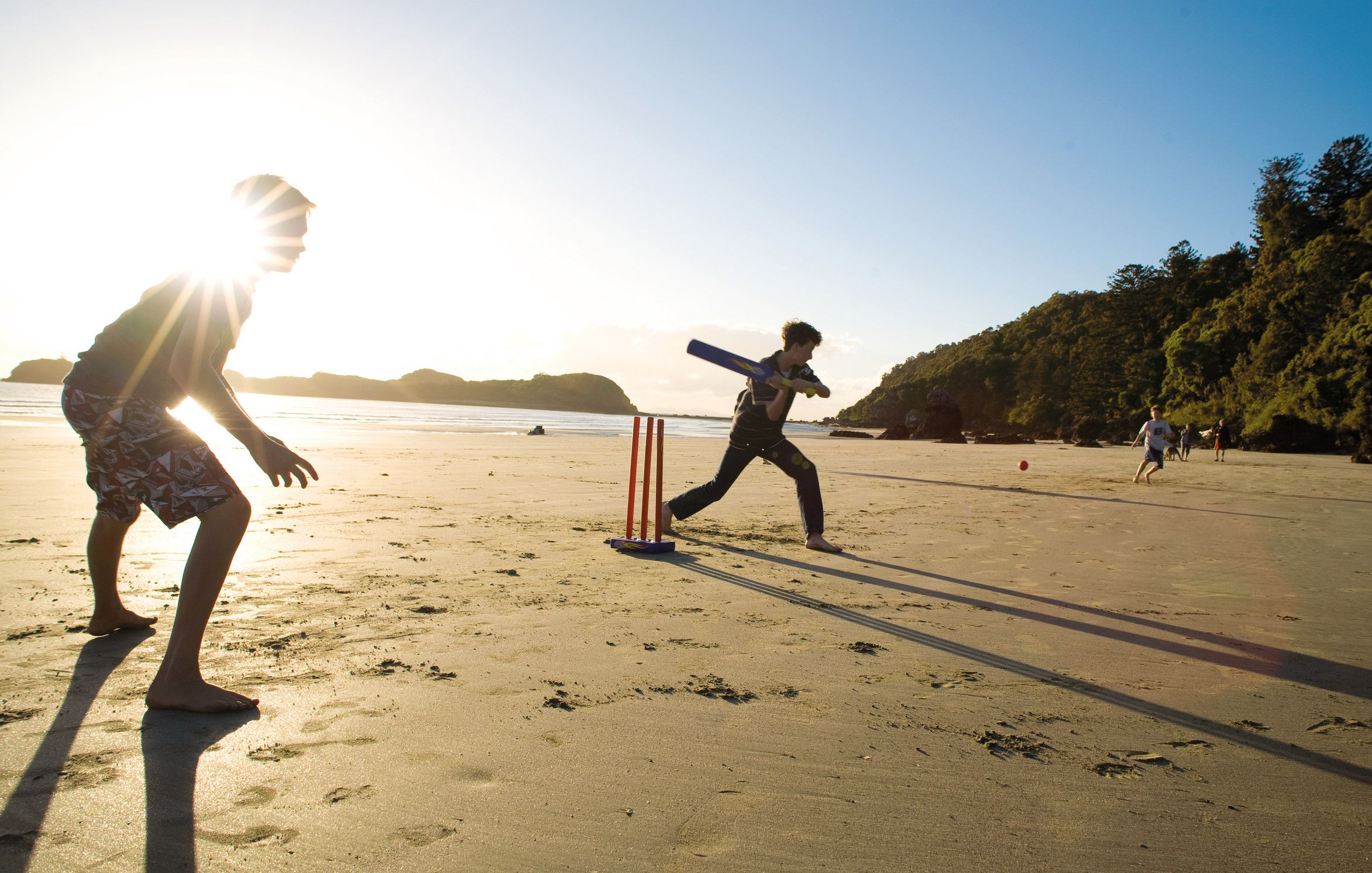 Cricket on the beach doesnt get any more aussie than