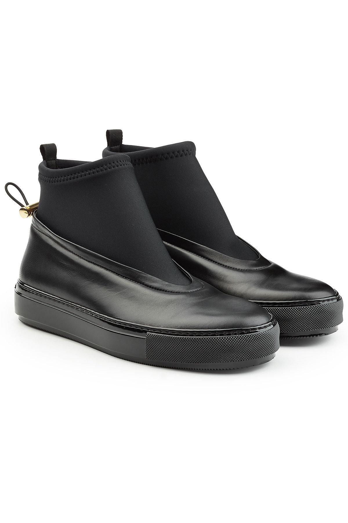 san francisco cee86 1bfbd STYLEBOP.com (FRNLIT) - Marni Marni Leather Sock Sneakers - AdoreWe.com