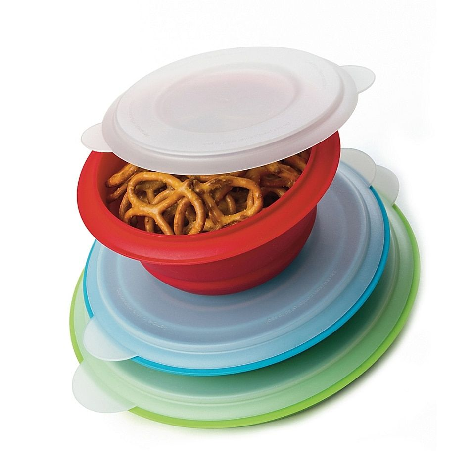 Prepworks Collapsible Storage Bowls With Lids (Set Of 3) Multi - These versatile Collapsible Storage Bowls are perfect set for food prep and storage and will go just about anywhere. With three convenient storage bowl sizes, they are great for taking in a lunch box, on a hike or camping.