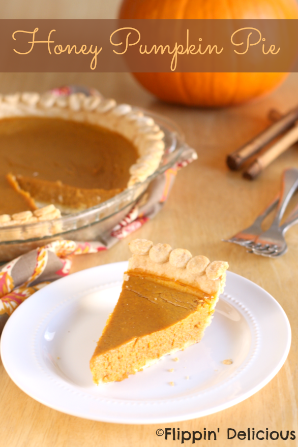 Gluten Free Honey Pumpkin Pie -