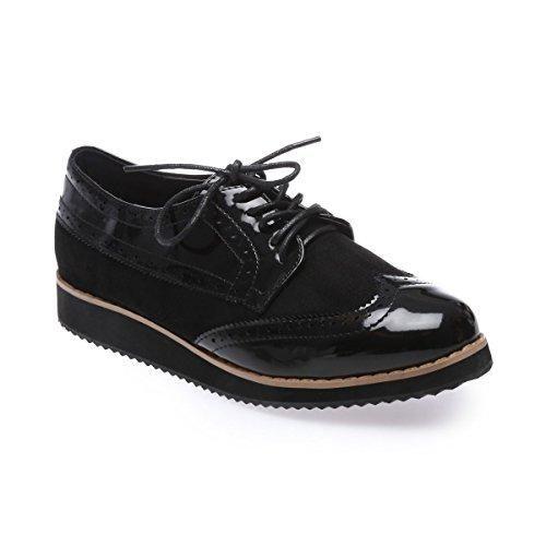 La Modeuse - Zapatillas de deporte para mujer, negro (negro), 40