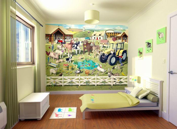 Kinderzimmer wandgestaltung bauernhof  44 Beispiele, die das Kinderzimmer gestalten kinderleicht machen ...