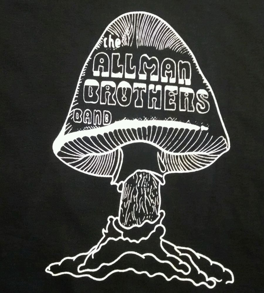 d5e9e4c262d3 ALLMAN BROTHERS MUSHROOM CLASSIC T SHIRT BLACK SM-5XLG   100cottonfirstquality  BasicTee The Jam