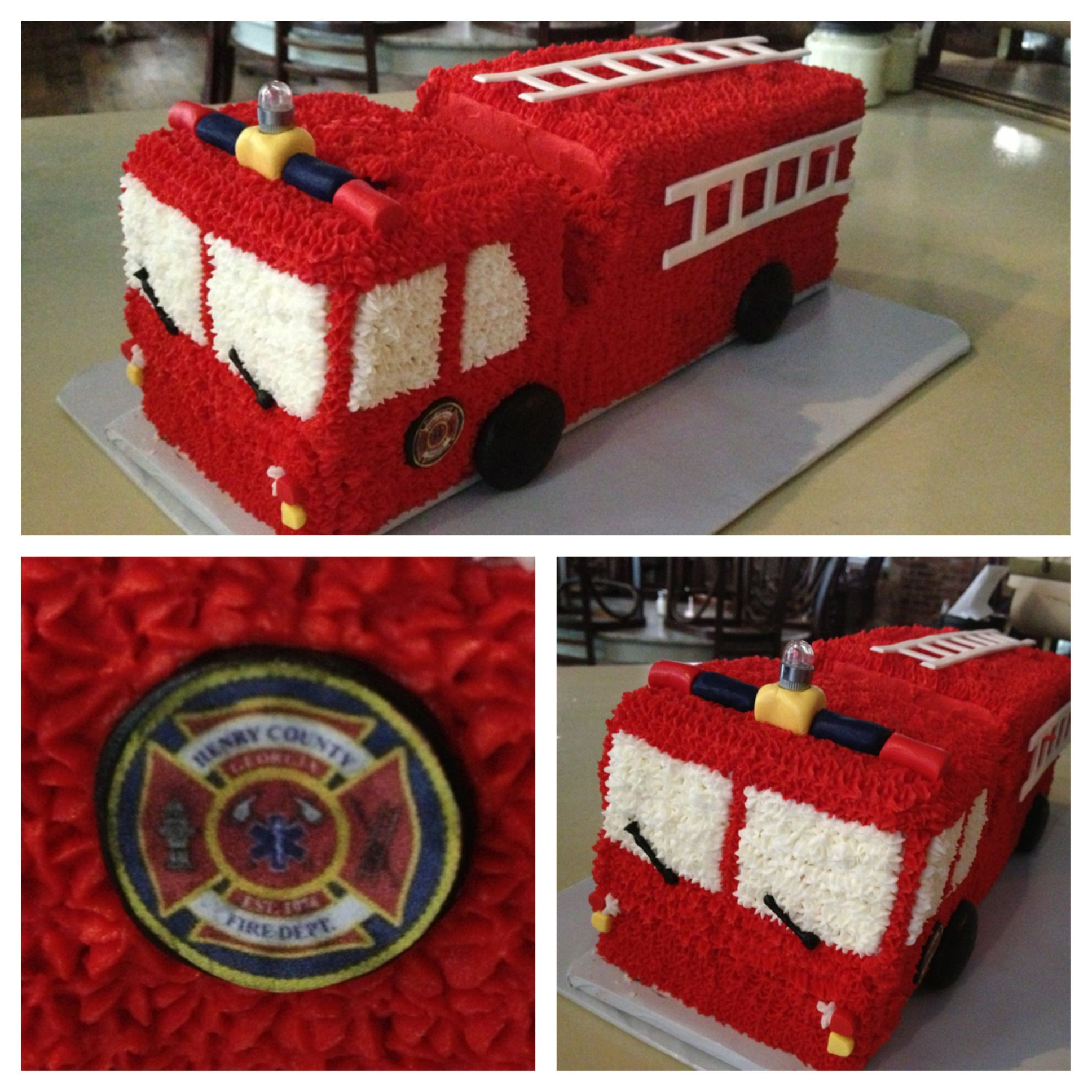 Fire Truck Cake Buttercream With Images Firetruck Cake Fire