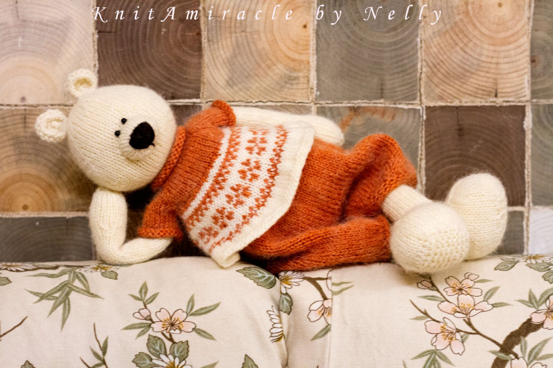 Knitting pattern toy Knitted teddy bear pattern Knit animal pattern ...