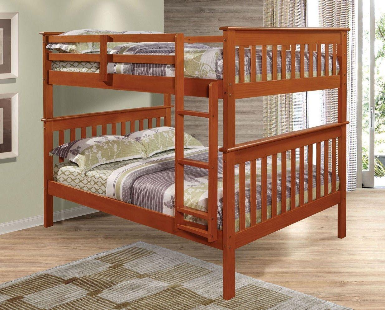 Loft over bedroom  Zachary Full over Full Espresso Bunk Beds  Full bunk beds Bunk bed