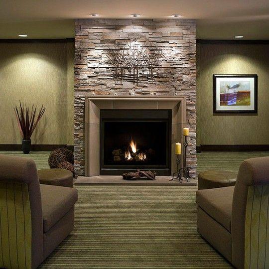 Stone Tile Fireplace Stone Fireplace Mantel Decorating Ideas