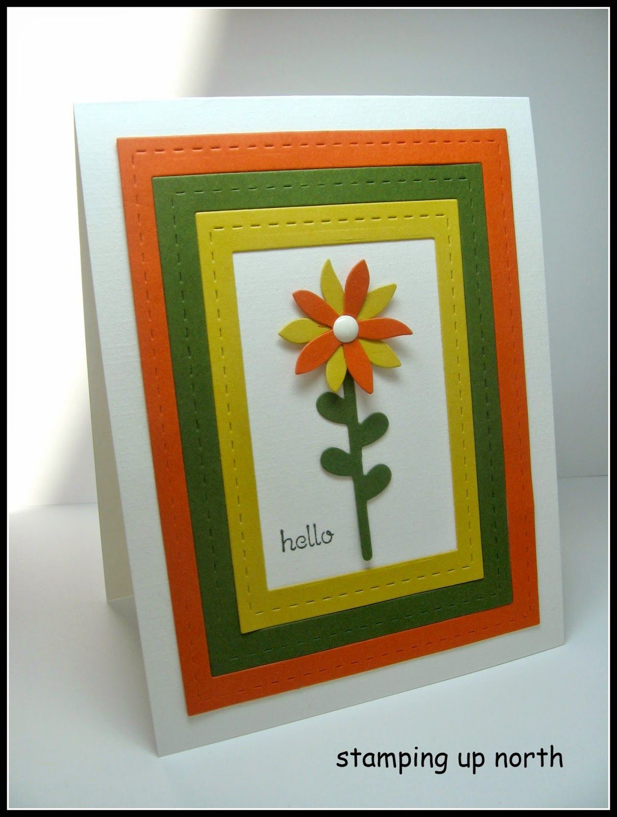 stamping up north: Paper Players color challenge....Stampin Up Flower Fair