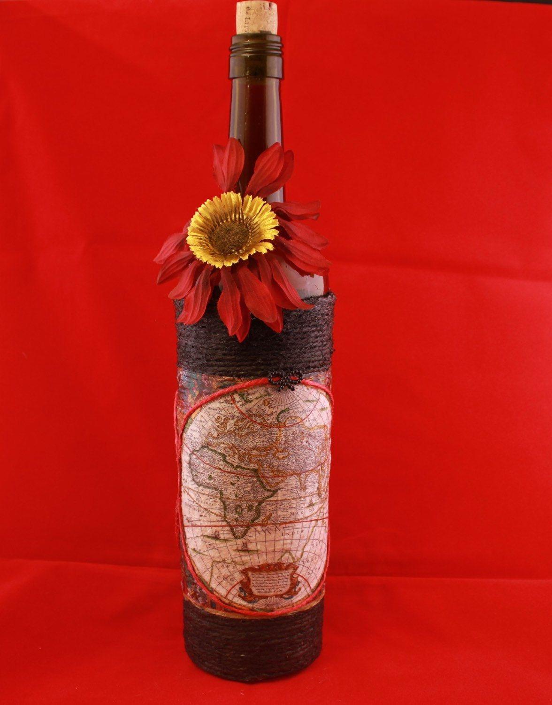 Pin By Kimmie Feria Congdon On Etsy Wrapped Wine Bottles Wine Bottle Bottle