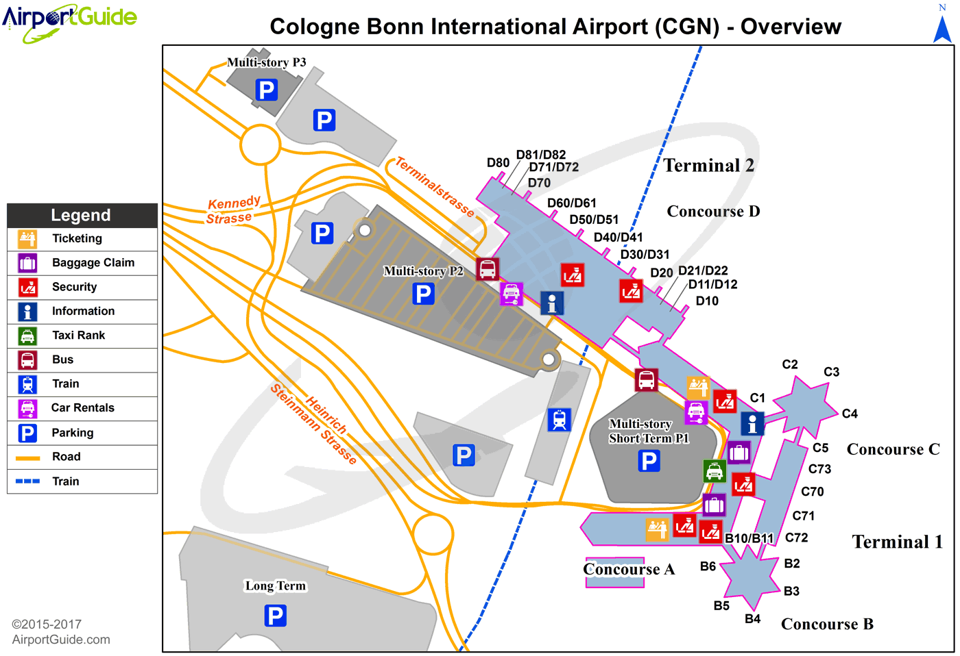Cologne   Cologne Bonn (CGN) Airport Terminal Map   Overview