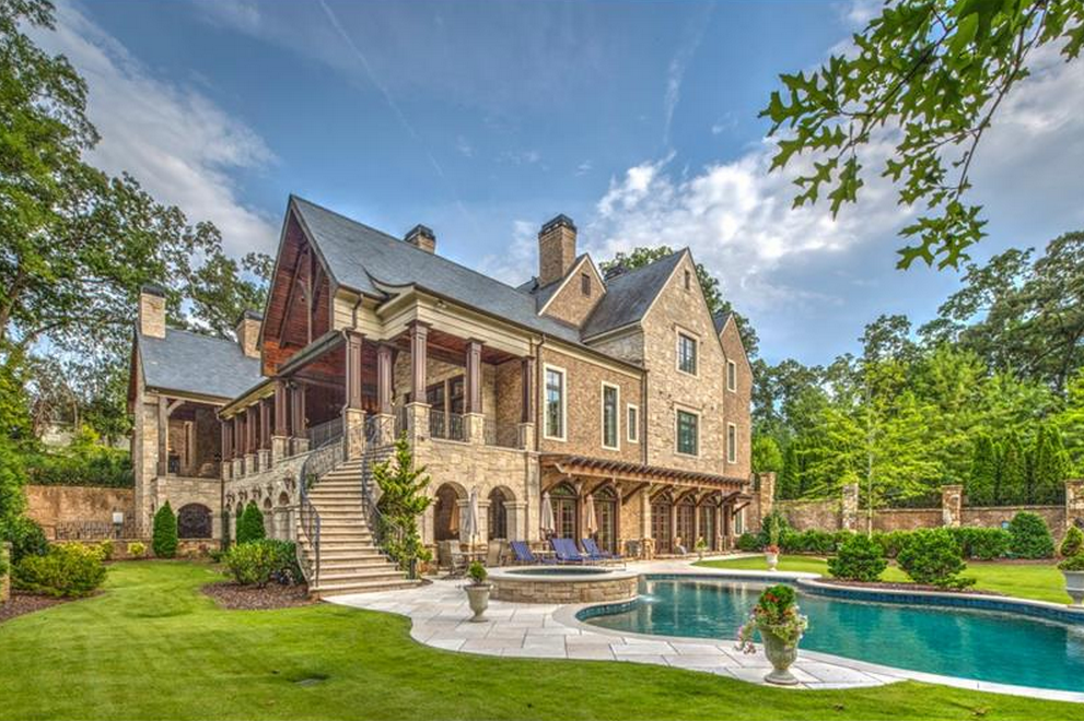 Sterling Hall A 17 000 Square Foot Brick Mansion In Atlanta Ga Mansions Mansions For Sale Swimming Pool House