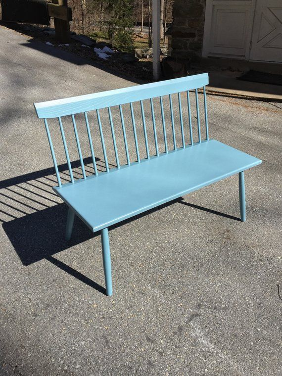 Cool Milk Painted Bench Spindle Back Bench Entry Bench Bralicious Painted Fabric Chair Ideas Braliciousco