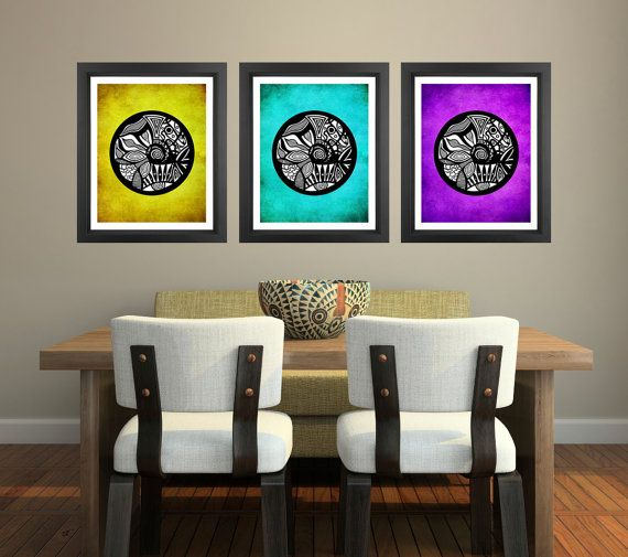 Poster Prints 8x10  Multicolor Tribal Circles  by PomGraphicDesign, $45.00 #ethnic #pattern #poster #posterprint #homedecor #decor #wallart #illustration #tribal #art #multicolor #circles
