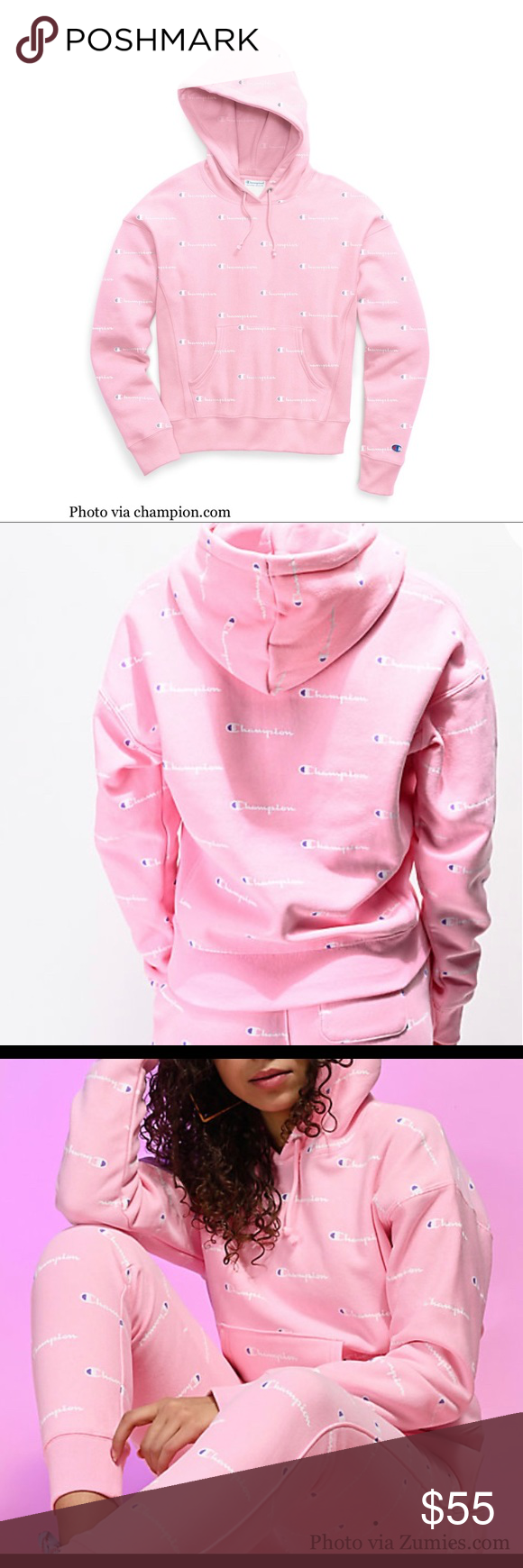 Nwt Champion Pink Candy Reverse Weave Hoodie 2xl Hoodie 2xl Pink Candy Pink Ladies [ 1740 x 580 Pixel ]