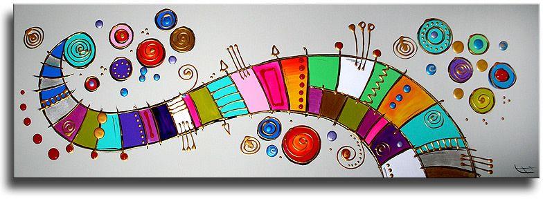Schilderij lullaby van ines schilderij abstract pinterest abstract muur - Idee schilderij living ...