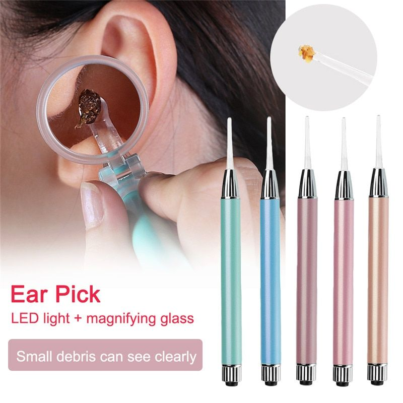 Baby Ear Cleaner Ear Wax Removal Tool Flashlight Earpick