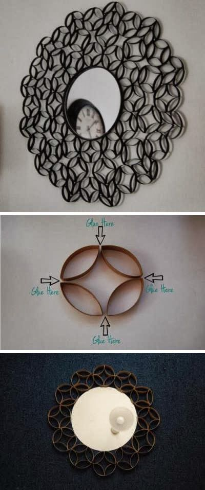HOT DIY IDEAS: How To Make Roll Round Mirror Frame from Paper