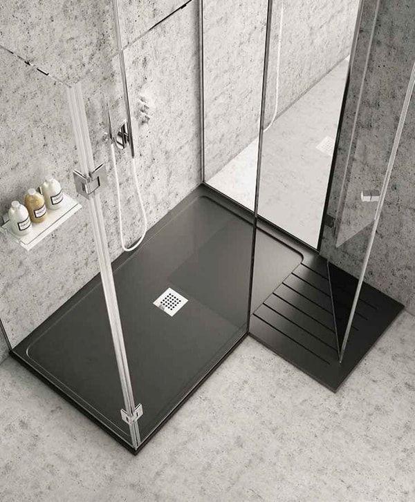 Platos de ducha de colores una alternativa al blanco - Cuartos de bano con plato de ducha ...